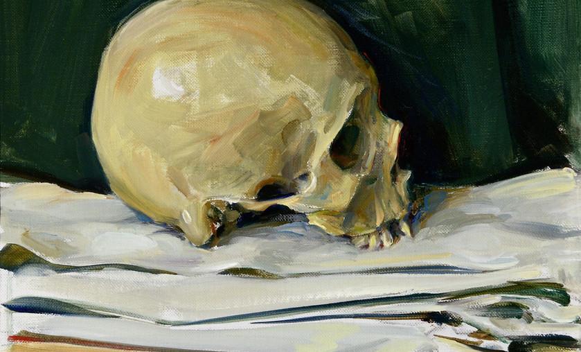"Jason Bouldin (b. 1966), ""Skull, Ash Wednesday,"" 2016, Oil on Canvas. Courtesy"