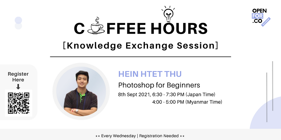 Coffee hours & Knowledge Exchange Session ( Photoshop for Beginners)