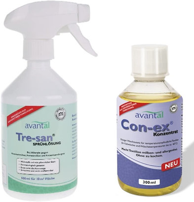 Milbenspray und Waschzusatz gegen Hausstaubmilben