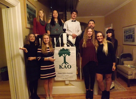 Zeta President, Hailey Janelle, reflects on 2019 KAO Induction Ceremony.