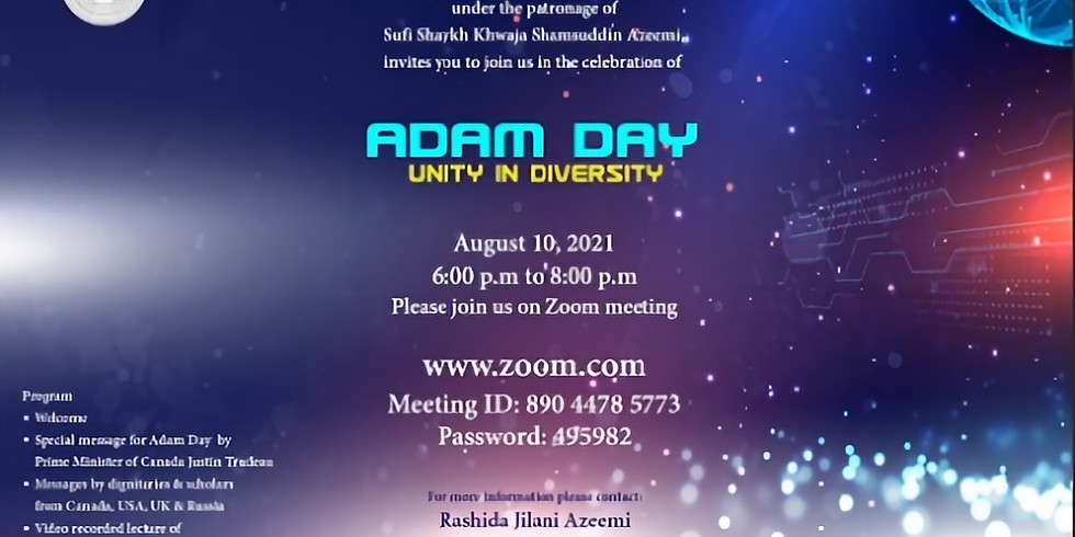 Adam Day 2021 : Unity in Diversity at 8:15