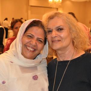 In Charge, Rashida Jilani, Azeemia Spiritual & Healing Centre Canada  welcoming guest in Adam Day celebration