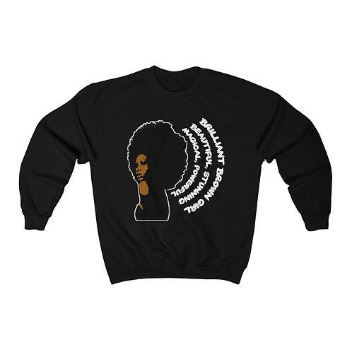 Royyale - Beautiful Brown Girl Unisex Crewneck Sweatshirt