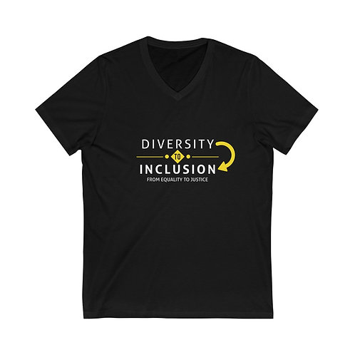 Diversity to Inclusion Unisex Jersey SS V-Neck Tee