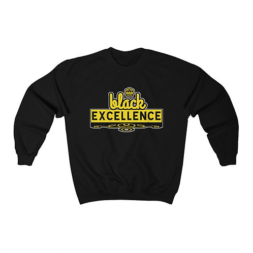 Royyale - Black Excellence Unisex Crewneck Sweatshirt
