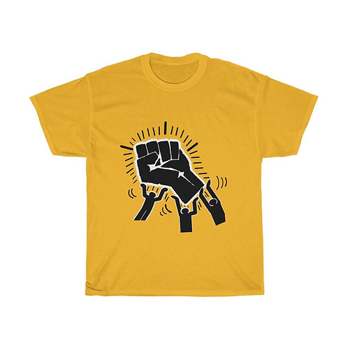 Royyale - Haring Blk Pwr Tribute Heavy Cotton Tee