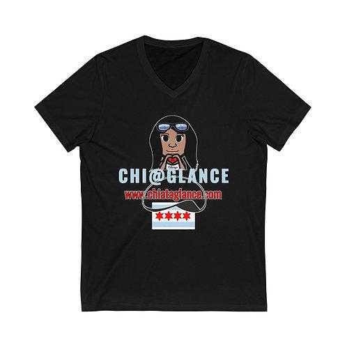 Chi At A Glance v4 Jersey SS V-Neck Tee