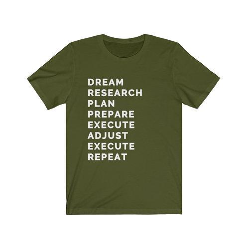 Royyale - Dream, Research, Plan... Unisex Jersey SS Tee