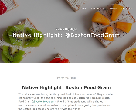 Boston foodgram Emily Chan on Nativx