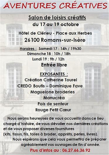 salon loisirs créatifs Drôme Romans sur Isère