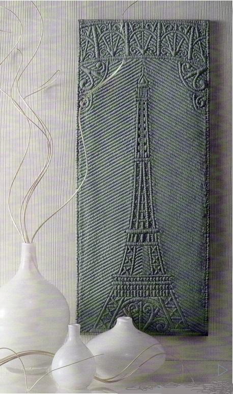 Tour Eiffel en boutis de soie. D. Fave