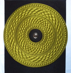 "Art textile ""SNAKE"" 47 x 60 cm"