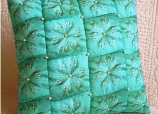 """1/2 Kit housse de coussin """"PLISSÉ turquoise"""""""