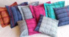 Housses de coussin 40 x 40 déco colorés