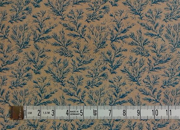 Tissu PATCH Branchages bleus