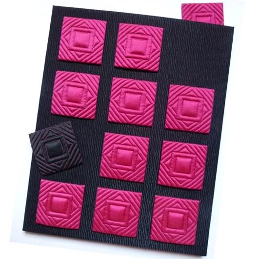 Art textile ABSENCE (42 x 56 cm)