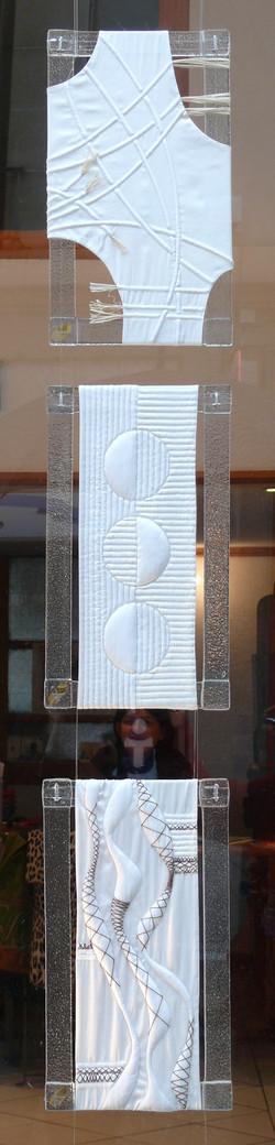 Abstractions de soie et verre Dominique Fave et Véronique Ognar