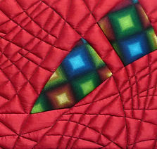 Abstract textile art