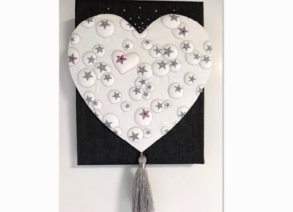 1/2 kit décor mural LOVE MAM (sur coton imprimé)
