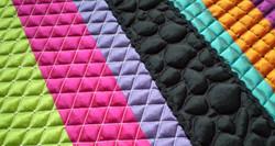"""Création textile """"Dominique_Fave_""""CODE COULEUR"""" détail"""