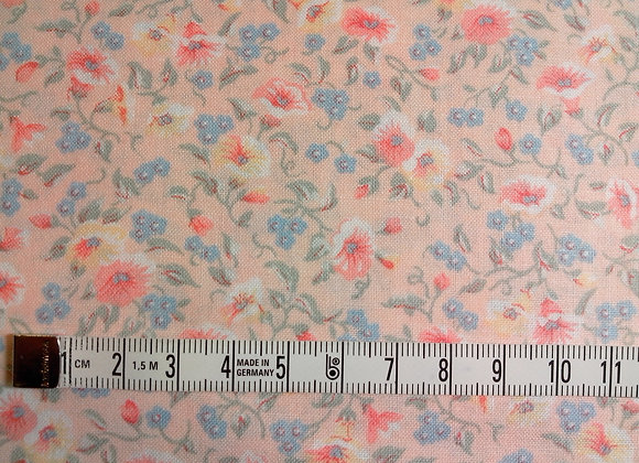 Tissu PATCH Liserons roses