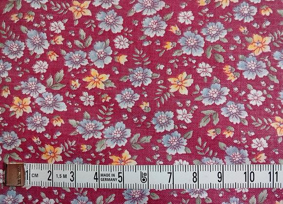 Tissu PATCH Fleurs sur prune