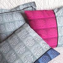 Coussin en coton motifs chinois Fave Dom