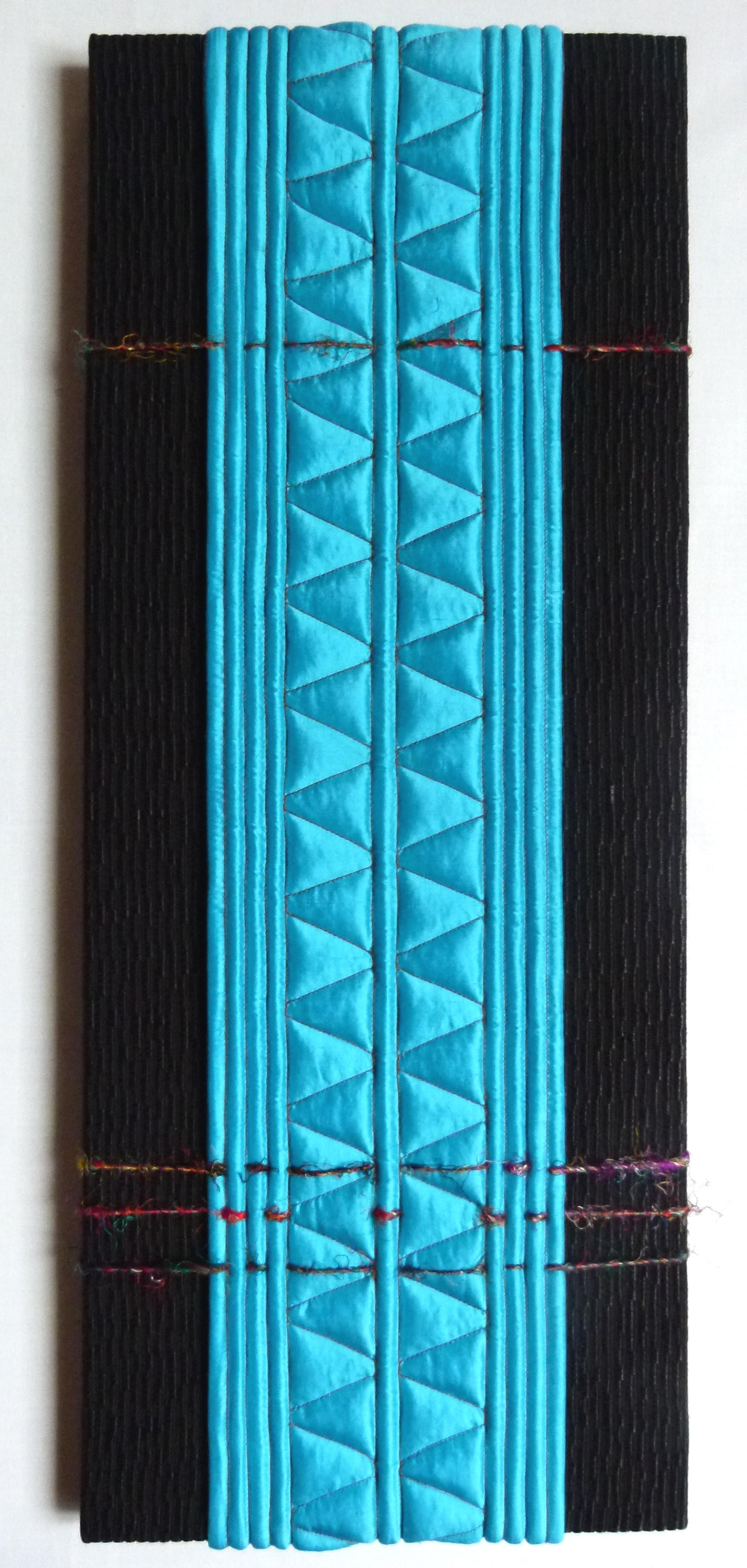 Création textile Fave ROUTE BLEUE 20x51 cm