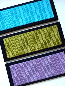 Triptyque textile Fave MAILLE 50x65 cm