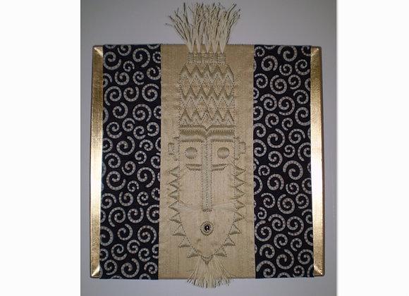 """Fiche créative tableau textile """"LE BARBICHU"""""""