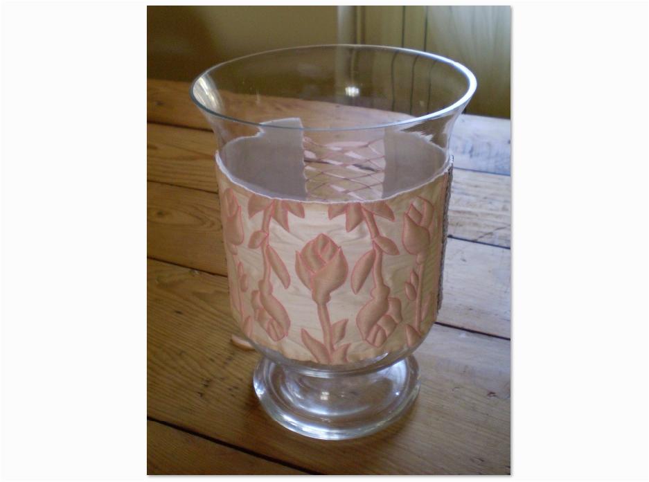 Vase décor boutis soie Fave