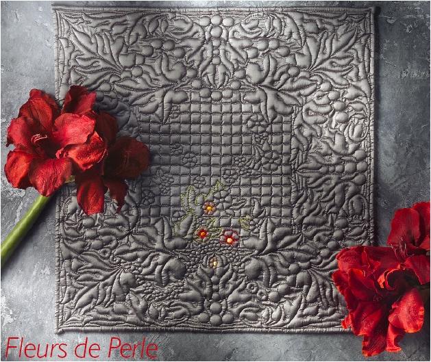FLEURS DE PERLE (60 x 60 cm)