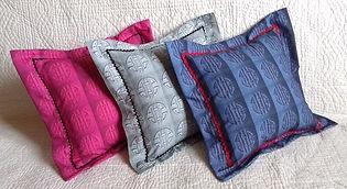 Tissu original effet de boutis en trompe-l'oeil, vendu en coupons et kits coussins