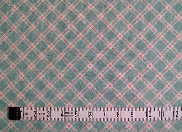 Tissu PATCH Carreau vert + rose