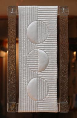 Art textile  REFLET 20x35 cm Travail du verre V Ognar