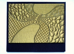 Art textile moderne Fave VAGUE A L'AME 60x45 cm