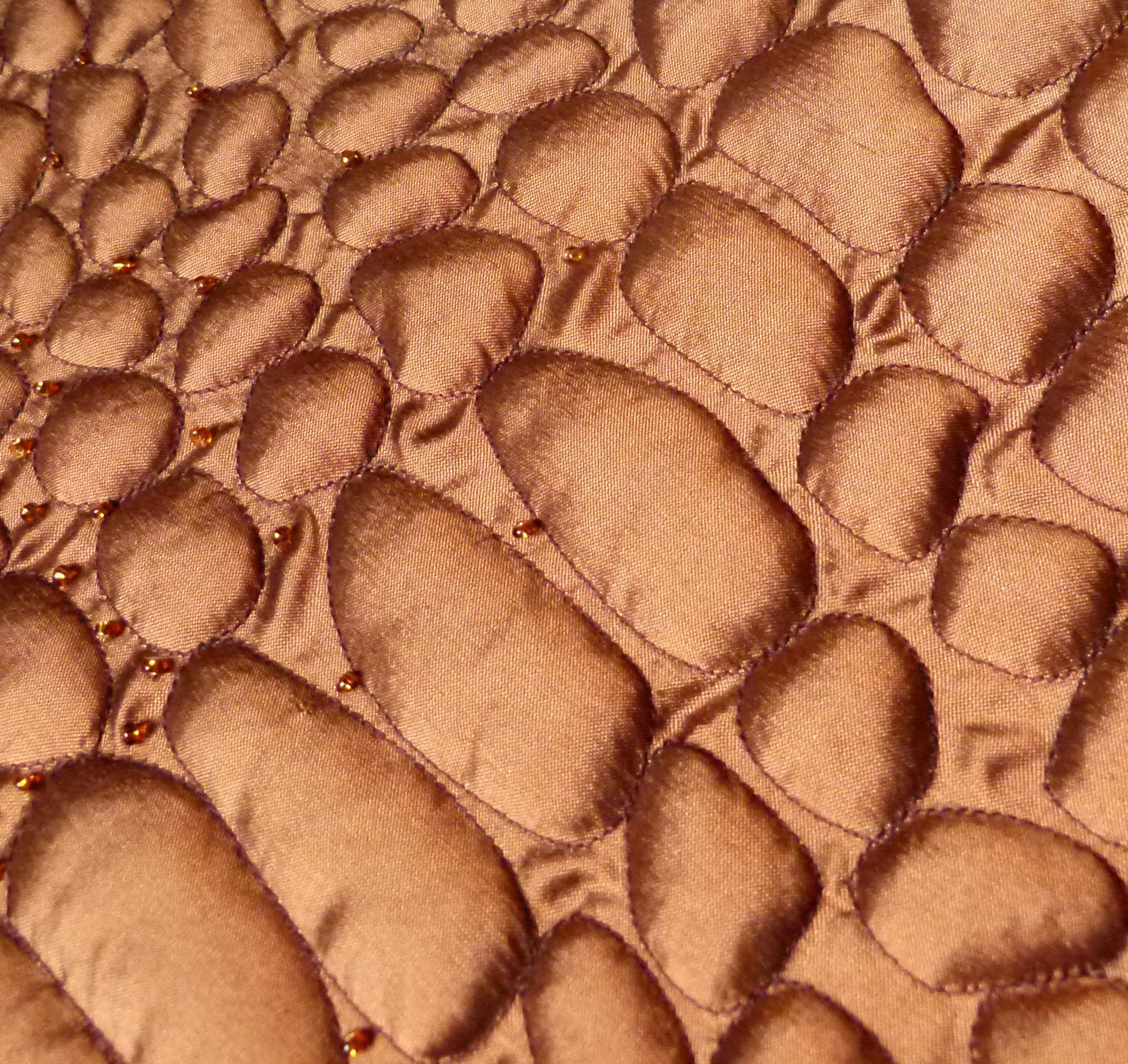 Boutis abstrait soie