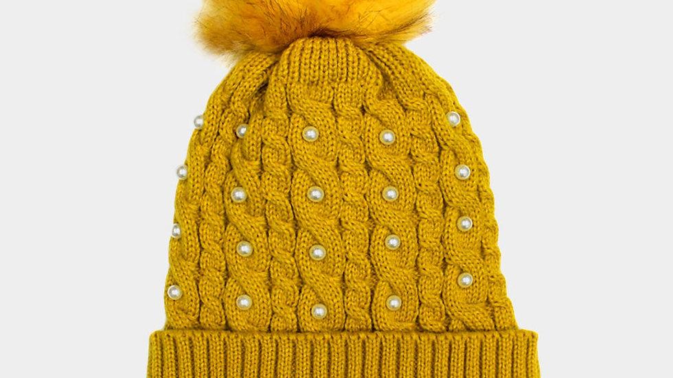 Pearl Puff Hat