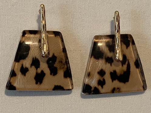 Animal Print Statement Earrings