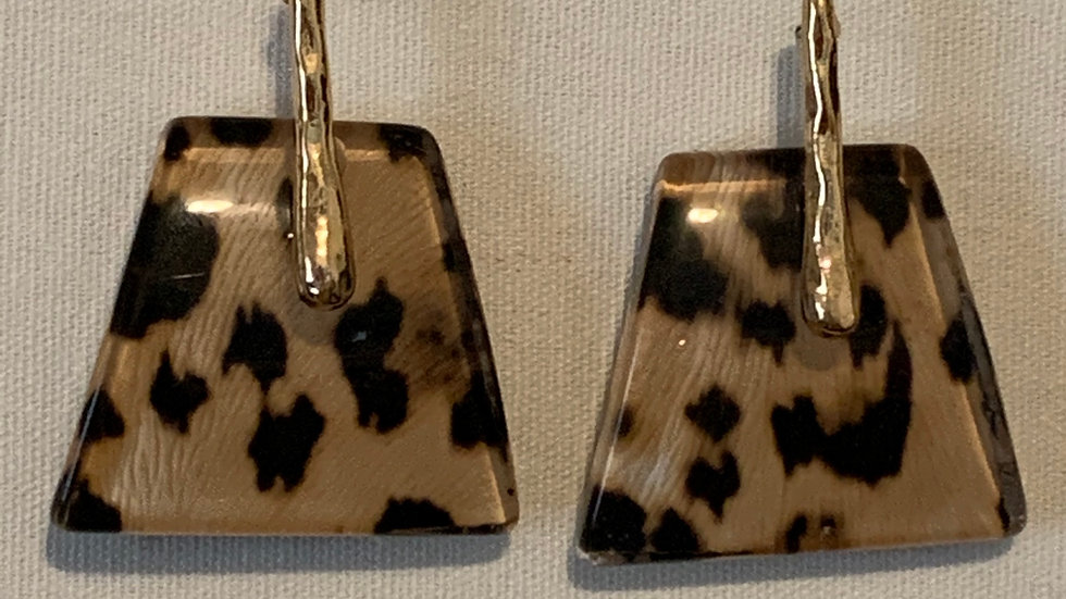 Animal Print Statement Earrings