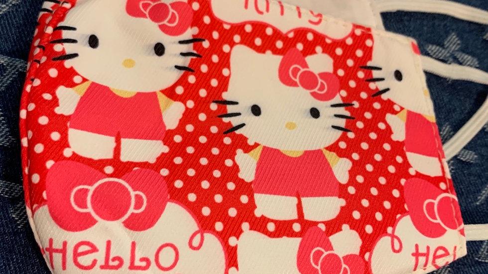 Polka Dot Hello Kitty Inspired Mask