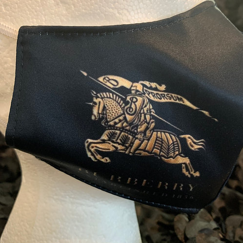 Black Knight Burberry Inspired Mask