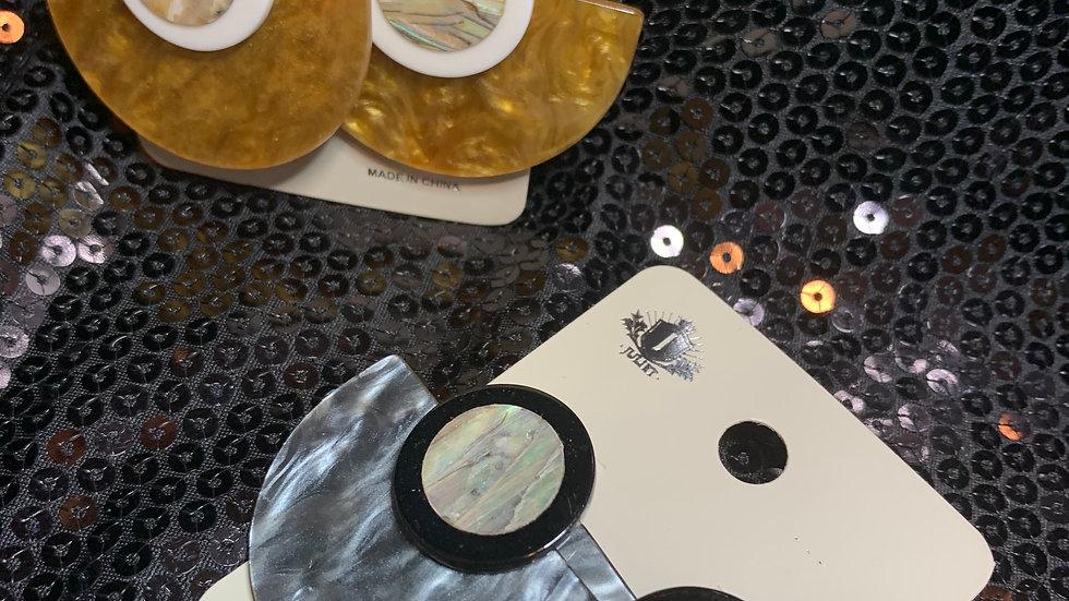 Pendulum Iridescent Earrings