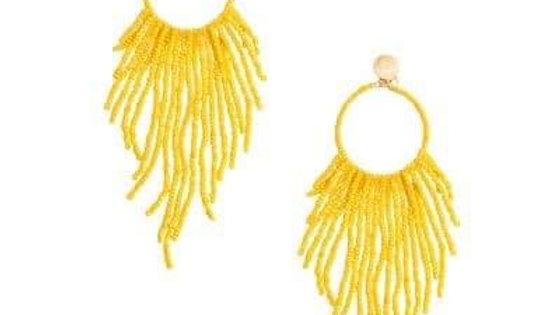 Seabead Fringe Earrings