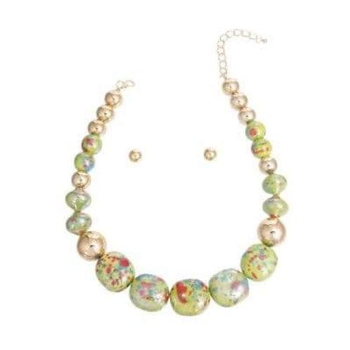 Elegant Marble Necklace Set