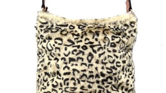 Faux Cheetah Print Fur Handbag