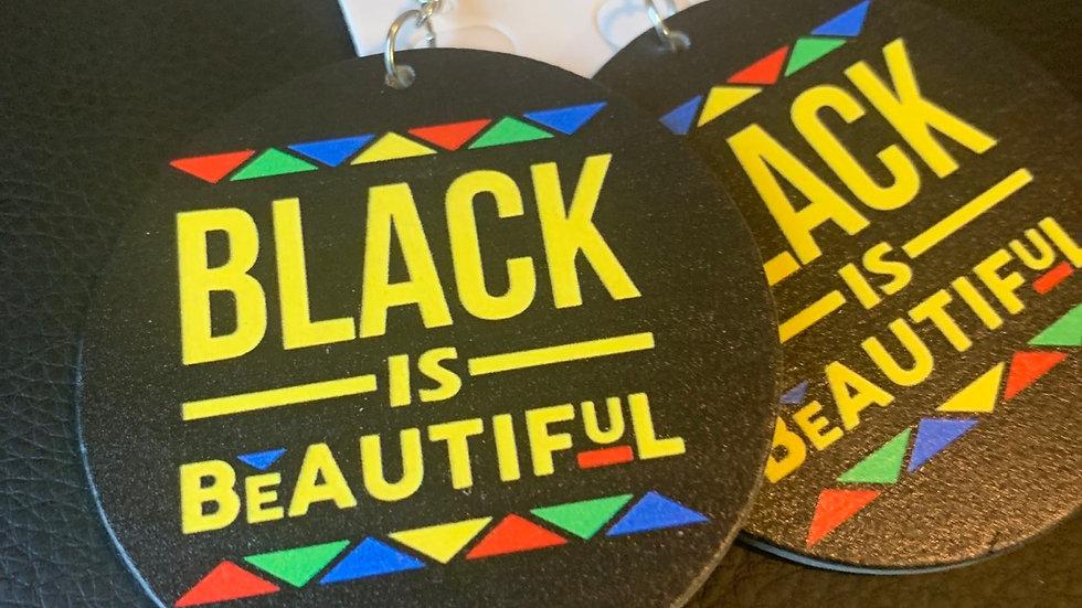 Black is Beautiful Wooden Earrings