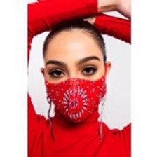 Jeweled Bandana Mask