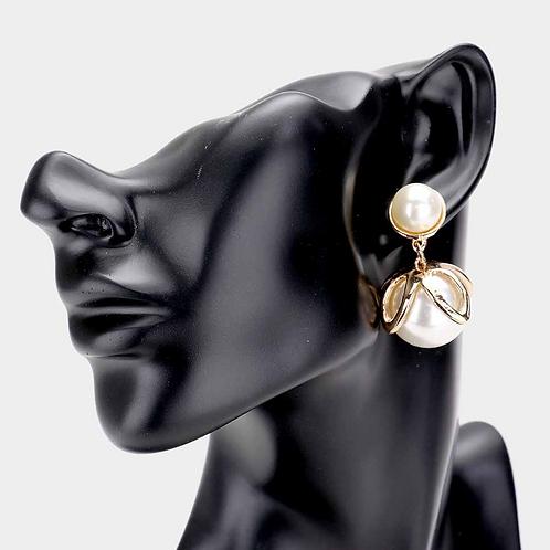 Pearl Ball Earring