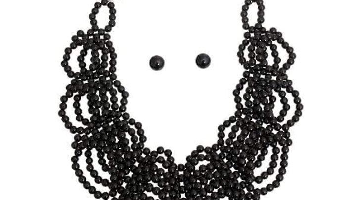 Balck Pearl Necklace Set